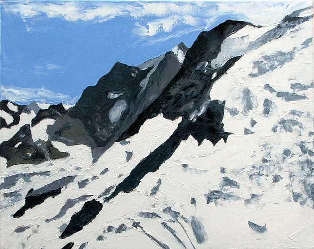 Jungfru Icefall: Oil on canvas 51cmx40.5cm