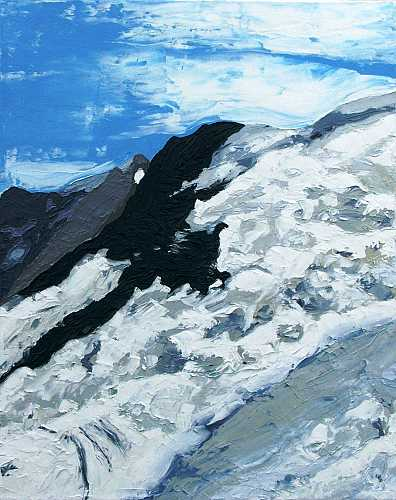 Jungfru Icefall 2: Oil on canvas 40.5cmx51cm
